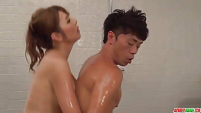 Oiled rub-down and erotic cock ride - There at one\'s disposal Japanesemamas.com