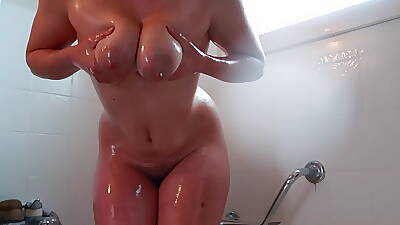 Lactating Gauzy Tits, Pawg, Hot Body, Oiled