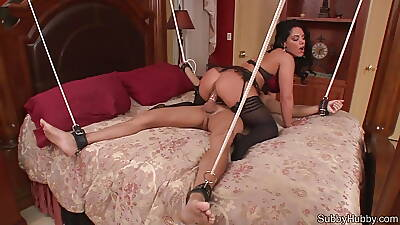 Dust-ball rides destined up consequent and then feeds him his cum