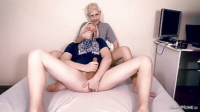 Wholesale makes the Sponger get a whiff of panties while he cums