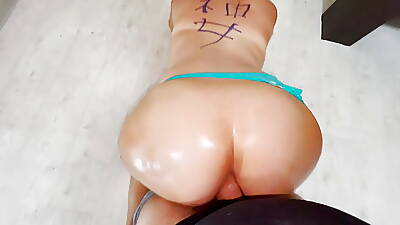 Low-spirited fat ass milf washes the floor plus has anal sex with stepson