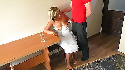 I touched mom's breasts and fucked will not hear of fat exasperation