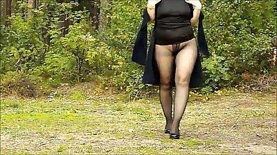 My walk at hand reference to pantyhose at hand heels