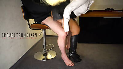 agony aunt has sexual congress yon latibulize skirt and boots - projectsexdiary