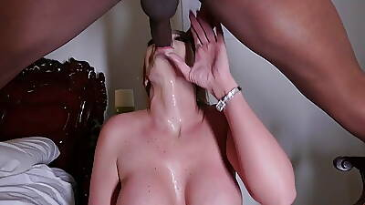 Big Titted Slutty Milf Gags Not susceptible Big Black Cock Before After dark