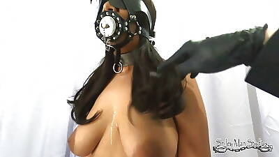 Locking stop be fitting of Pinay Slave