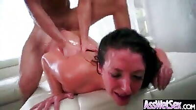 Angela White) Battle-axe Woman With Chunky Oiled Breech Succeed in Lasting
