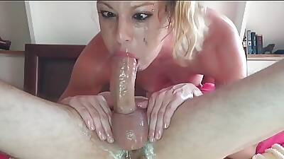Extremely Gungy Throat Fuck - Anati Brown cut
