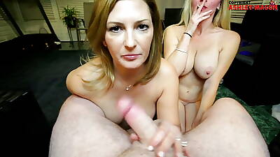 Mommy with the addition of Aunty – Smoking Blowjob