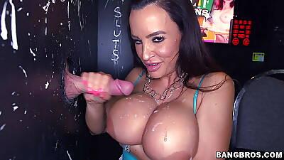 Big Tit MILF Milking Multiple Big Cocks (ru)