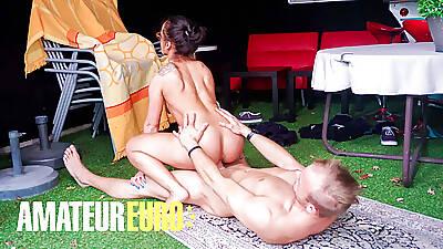 AMATEUREURO - Big Ass German Housewife Outdoor Pussy Fuck