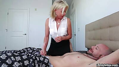 Shove around adult hither lingerie wanking cock hither erotic scene