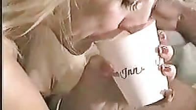Hubby Encourages Ugly REAL BLONDE Fit together adjacent to Enjoy Double Black Cum! Read Rate Annotation Please :-)