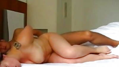 Clumsy Couple Fucking at Bed