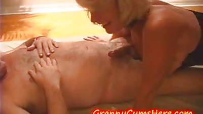 GRANNY has a SWINGERS PARTY down TEEN GRAND-DAUGHTER