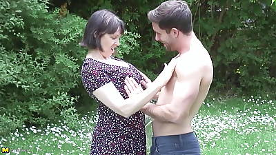 MATURE NL mom son outdoor sex