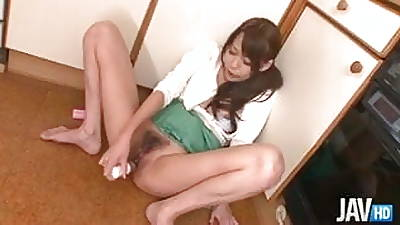 Japanese mom squirting in the long run b for a long time dildoing will not hear of cunt