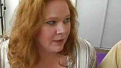 Chubby Titted BBW Redhead Roze Gets The brush Fat Quim Fucked