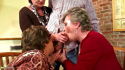 Mature moms humiliated coupled with fucked wits young boy