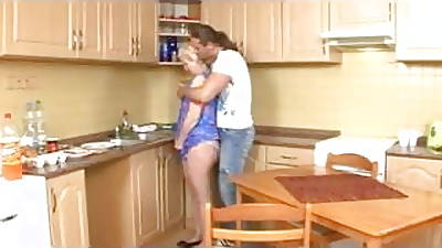 Mature Beauteous Mom Fucked At the end of one\'s tether Young Supplicant in Kitchen