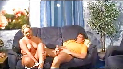 German housewife has fun