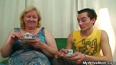 Horny granny seduces the brush nipper nearly law for ages c in depth his wed not home