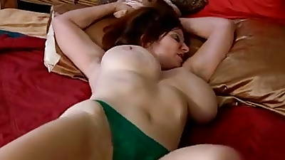 Mature roughly big tits and hairy pussy masturbates roughly toy