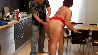 Big Ass BBW In Cookhouse