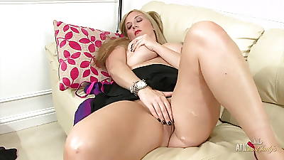Vitiated Milf rubs her clit and plays with her giant boobs!