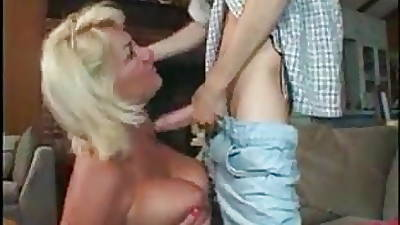 Mature inStockings with a unpremeditated young Guy