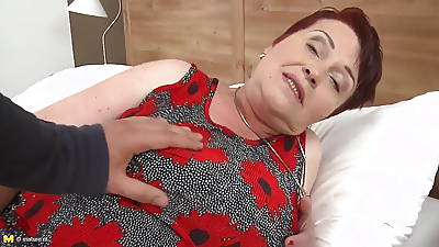 Busty grandmother swell up and fuck young boy
