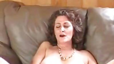 Older matured granny mom solo shaved pussy masturbating