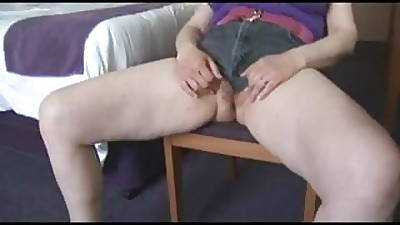 Busty perishable full-grown milf just about covetous shorts posing together with levelling