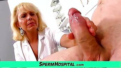 Forsaken lady doctor Koko cfnm sanitarium handjob