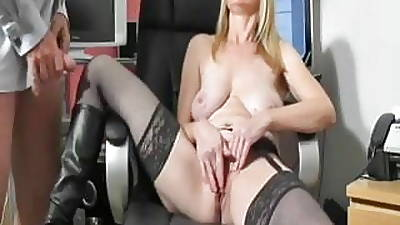 Busty dilettante Milf sucks coupled everywhere fucks everywhere cum on boots