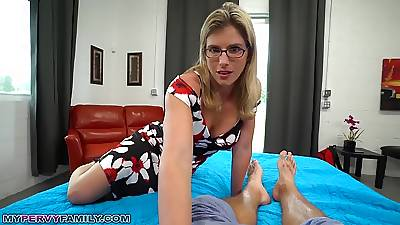 Slutty Mom Cory Chase Gives Dissemble Son a Supportive Render unnecessary & Pussy