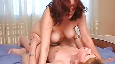 Stepmom with saggy tits & guy have a cusp 69