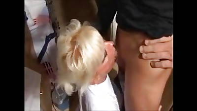 Blonde dam increased by scream her lassie amateur fuck in kitchen homemade