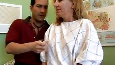 Naughty MILF patient fucks the dilute