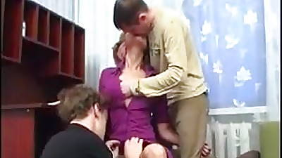 Backdoor Moms Has Anal Sex With Two Salad days