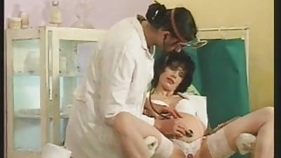 Hungarian Convincing MILF apart from someone\'s skin Doctor
