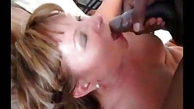 Mature Lady Fucked unconnected with BBC, Swallows dramatize expunge Load