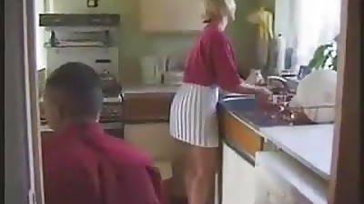 STP1 Hot English Milf Gets Fucked In Someone\'s skin Kitchen !