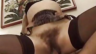 Hairy Italian MILF - Anal