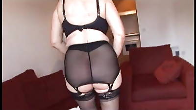 Gradual Pussy Framed apart from Girdle and Stockings