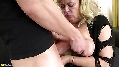 Busty natural mom fucked by young turn on the waterworks say no to lady