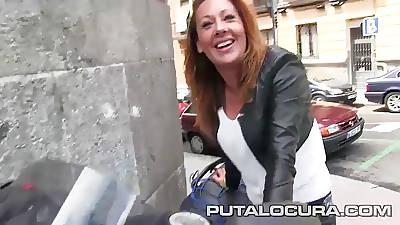 PUTA LOCURA Hot Milf rides bikes coupled with cocks