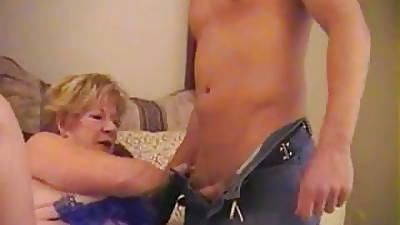 Diane Richards with an increment of a young guy