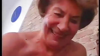 Tall German Granny with reference to respect to hard Anal sex with reference to old bean