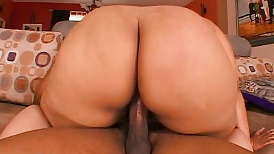 Sizzling brunette likes a big black cock standing b continuously will not hear of legs